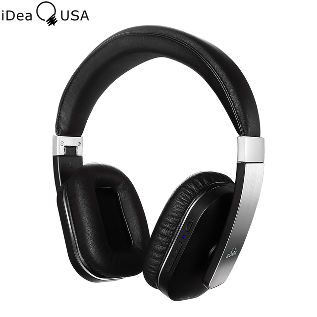 iDeaUSA S204 Foldable Wireless Bluetooth Headphones Noise Reduction Over-Ear Headphone Bluetooth 4.0 + EDR Apt-X with Microphone