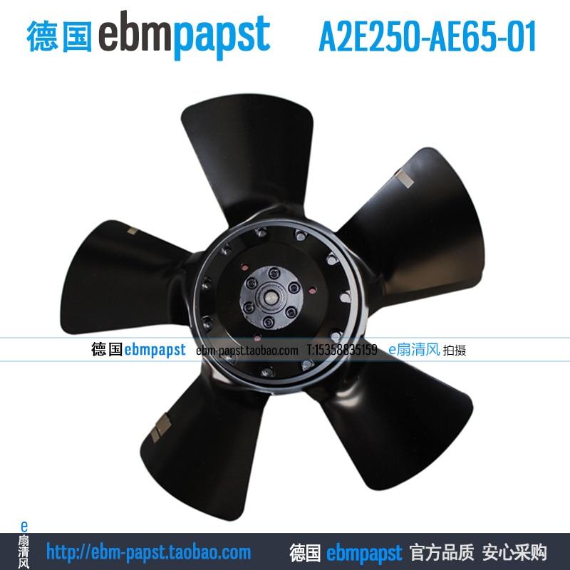 ebm papst A2E250-AE65-01 AC 230V 0.51A 0.74A 115W 165W 146x146mm Outer rotor  fan new original ebm papst a2s130 ab03 11 ac 220v 240v 0 3a 50w 130x130mm outer rotor fan