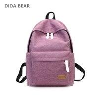 2016 Women Canvas Backpacks Ladies Shoulder School Bag For Teenagers Girls Travel Fashion Sports Bags Bolsas