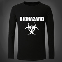 New Biohazard Movie Men T Shirts Fashion Cotton Long sleeve American Movie Anime Bottoming Tight Male T-Shirt For Autumn