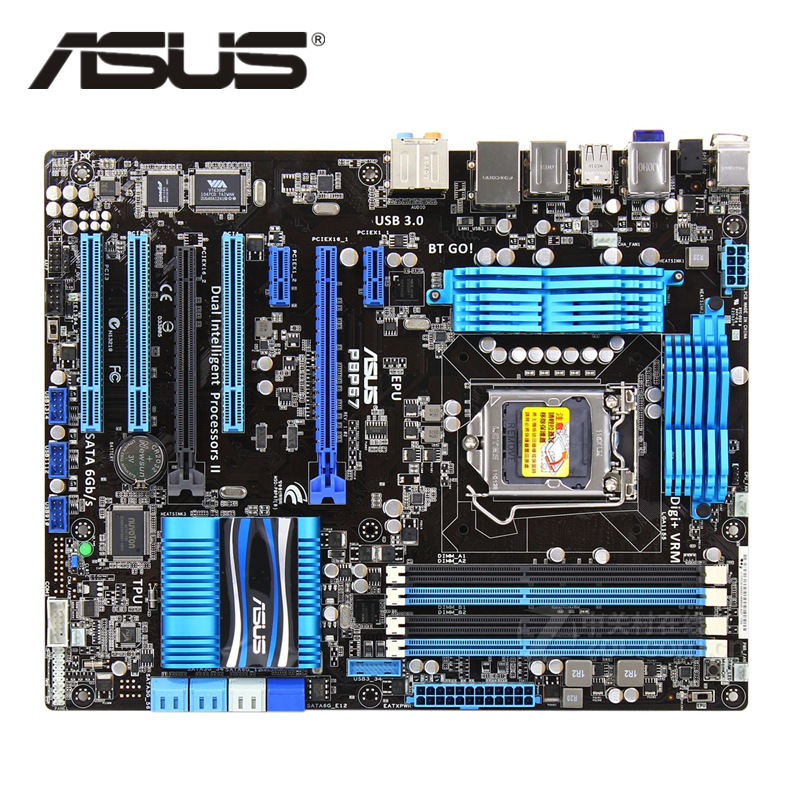ASUS P8P67 1155 D'origine ASUS P8 P67 32nm Carte Mère Socket LGA 1155 ATX DDR3 USB3.0 32 GB Ordinateur De Bureau PC carte mère