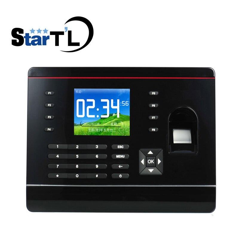 Carte TCP/IP biométrique d'empreintes digitales fréquentation à temps terminal présence d'empreintes digitales carte enregistreur horloge temps de présence