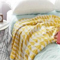 YOOSA New Arrival 100% Cotton High Quality Throw Blankets Sofa Spring Autumn Knit Throw Blanket mantas para cama decorativa