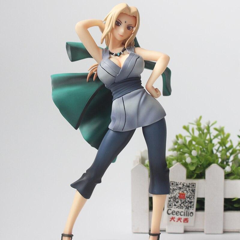 Japanese Anime Naruto Girls Action Figure Tsunade Model Cartoon Doll PVC Collection Figurine 21cm