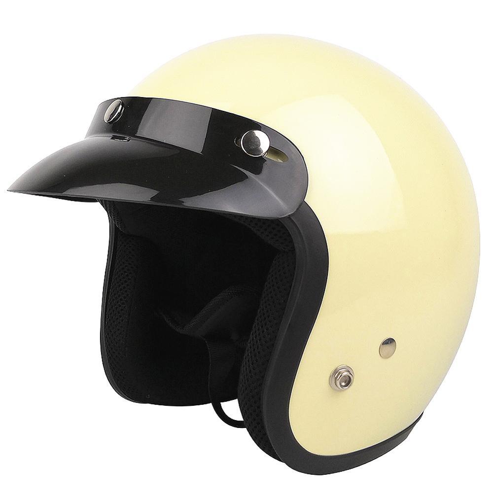 Для взрослых с открытым лицом Jet Casco moto Винтаж moto rcycle шлем moto rbike Ретро шлем скутер 3/4 полушлем capacete de moto cicleta - Цвет: Ivory white 350