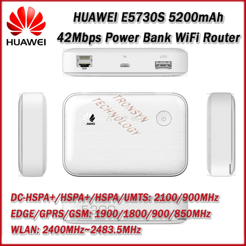 Mew King DC-HSPA+ 42Mbps HUAWEI E5730S Ethernet 3G Mobile WiFi Hotspot Support Wireless TO Wired Network ...
