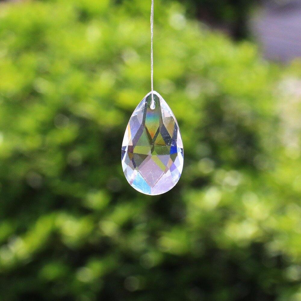 10x PINK Pendant Faceted Glass Art CRYSTAL CHANDELIER PRISM Suncatcher DIY Drop