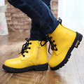 New 2016 Winter Autumn Children Shoes PU Leather Waterproof Kids Martin Rain Boots Sneakers Baby Shoes Boys Girls Boots