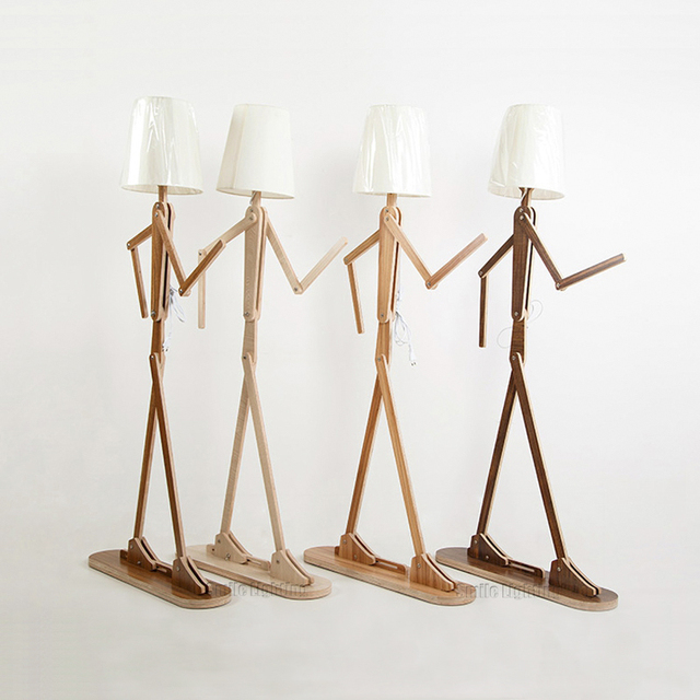 Creative wooden floor lamp modern decorative lighting human model creative wooden floor lamp modern decorative lighting human model changeable floor lamp mozeypictures Image collections