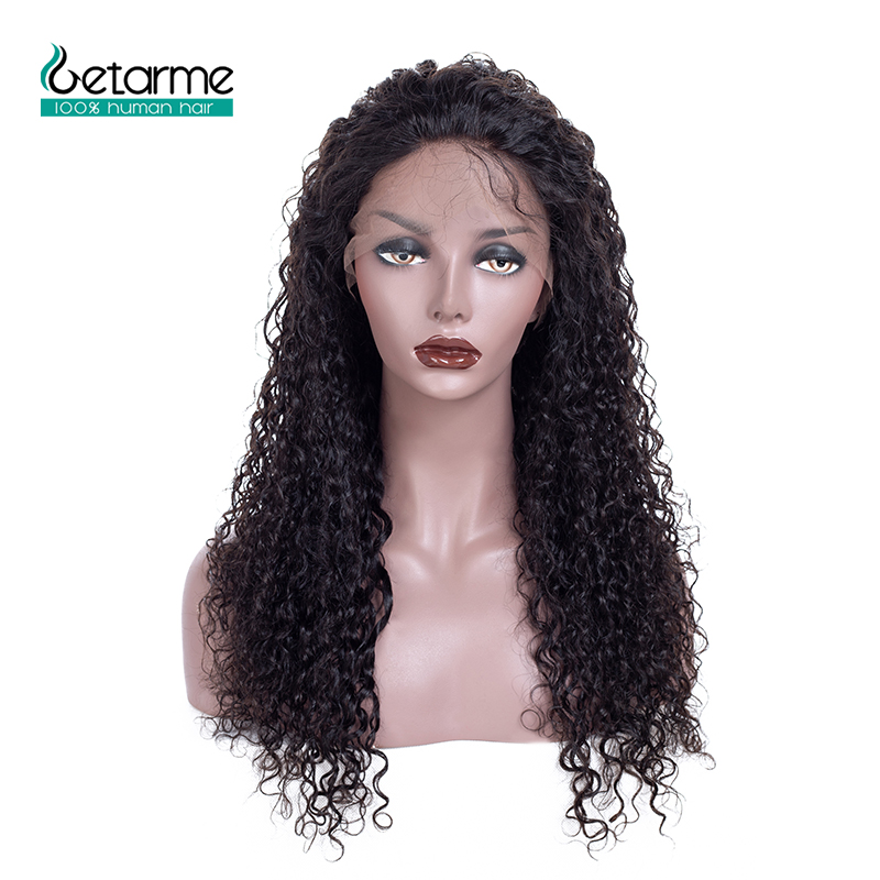 Getarme Lace Wig Human Hair Pre Plucked With Baby Hair 13X4 Brazilian Non Remy Hair Kinky Curly Lace Front Human Hair Wigs 130%