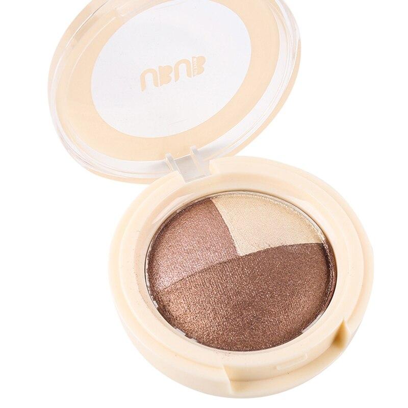 UBUB Brand Makeup Metallic Eyeshadow Palette Waterproof Long Lasting Nude Smoky Glitter Red Eye Shadow 3 Colors Matte Eyeshadow