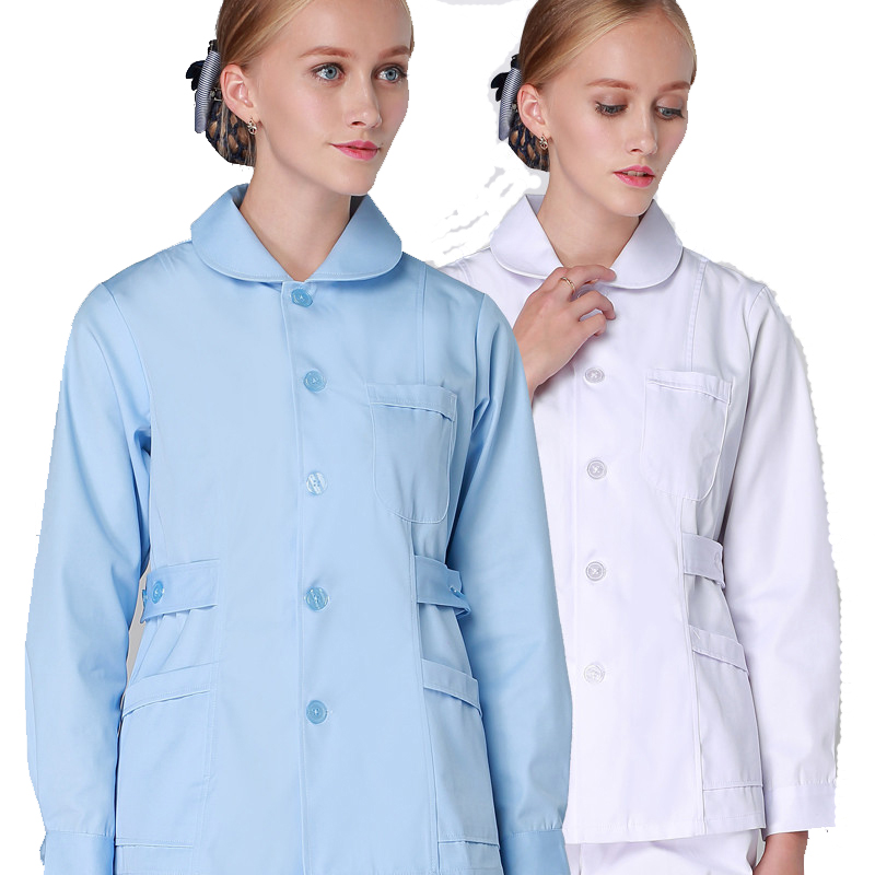 Medical Clothing for Women Winter Hospital Uniforms Scrub Sets Solid Color Buttons Closure Doll Collar Premium Medical Clothes