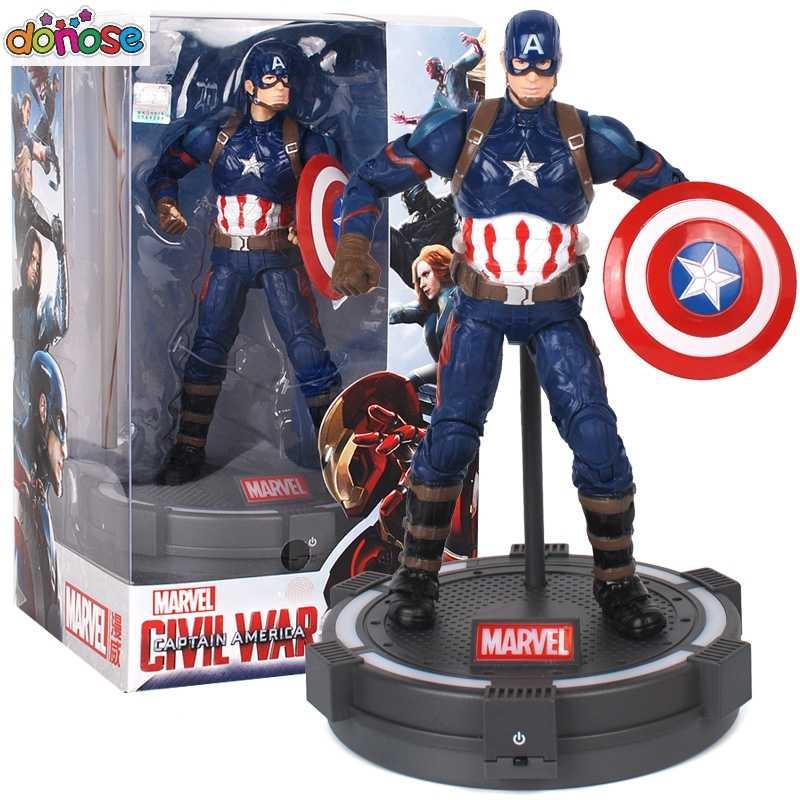Светодиодный светильник Marvel Мстители Бесконечность войны Фигурка Человека-паука Железный человек Капитан американская черная пантера фигурка модель игрушки