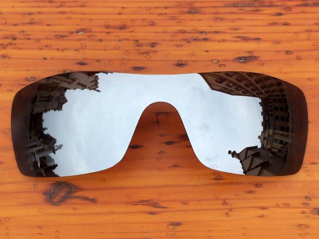 7077d7c6a3 Policarbonato-Chrome Silver Mirror Reemplazo de Lentes Para gafas de Sol  Batwolf Marco 100%