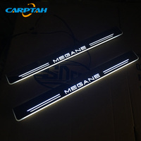 CARPTAH Trim Pedal Car Exterior Parts LED Door Sill Scuff Plate Pathway Dynamic Streamer light For Renault Megane 2015 2018