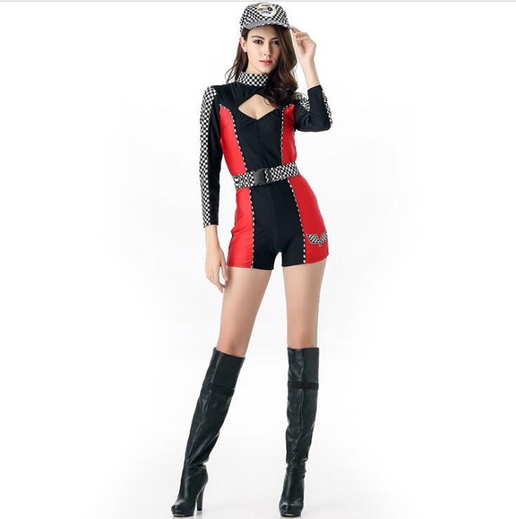 free shipping sexy miss indy super car racer racing sport driver grid girl prix fancy costume m. Black Bedroom Furniture Sets. Home Design Ideas