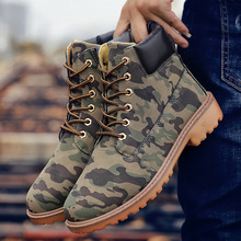 Autumn Winter Men Casual Shoes Leather Lace Up Flat Warm Fashion Classic Sneakers