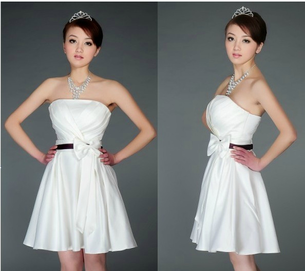 Довольно дешево щель декольте кружева формальные короткое цвета шампанского vestidos элегантный модные платья выпускного вечера