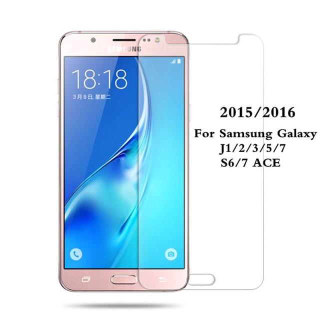 0.26mm 9 H Temperli Cam Samsung Galaxy J1 J3 J5 J7 2016 Patlamaya dayanıklı Anti-Paramparça Ekran Koruyucu Film J5 2017 S6 S7