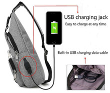 USB Men Gym Bag Shoulder Waterproof Basketball Fitness Run Women Outdoor Sports Football Chest Bag USB Charging Port Backpack