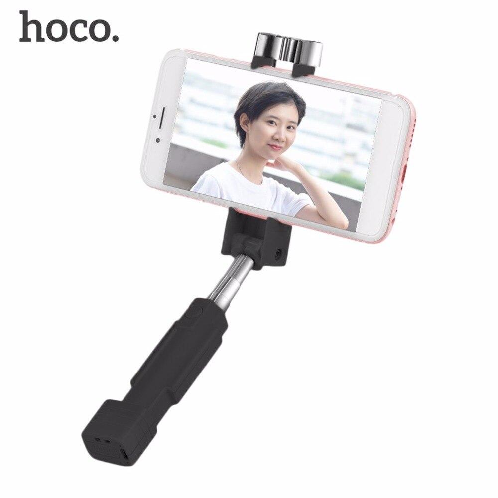 HOCO K4 Bluetooth Selfie Stick Monopod Handheld sin hilos Mini portátil extensible Selfiestick para xiaomi para iPhone para Android