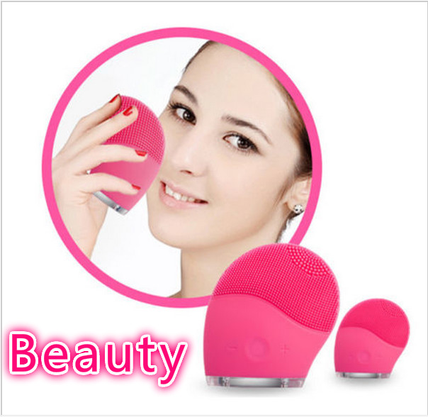 100% High Quality Electric Soft Silicone Brush Vibration Recharging Super Face Washing Machine Facial Massager Cleanser deep face cleansing brush facial cleanser 2 speeds electric face wash machine