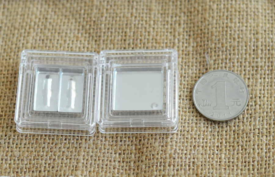 ФОТО free shipping transparent eye shadow / lipstick pressure plate empty box ( aluminum plate )