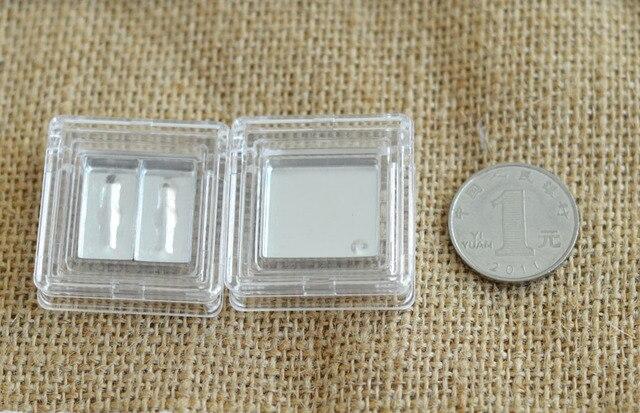 free shipping transparent eye shadow / lipstick pressure plate empty box ( aluminum plate )