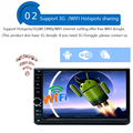 HD 1024X600 Quad Core двойной 2 din Android 4.4 Автомобильный DVD радио-Плеер автомобиля GPS Навигационная система Стерео DDR3 2 ГБ ROM 16 Г Флэш-2din