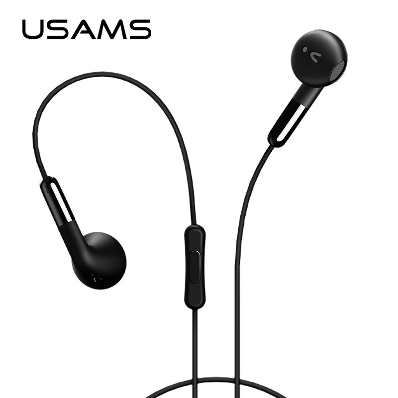 Original USAMS Earphone Noise Cancelling In-Ear 3.5mm AUX with Mic Wire Control for iphone Xiaomi mobile phone EP-15 original xiaomi mi hybrid earphone in ear 3 5mm earbuds piston pro with microphone wired control for samsung huawei p10 s8