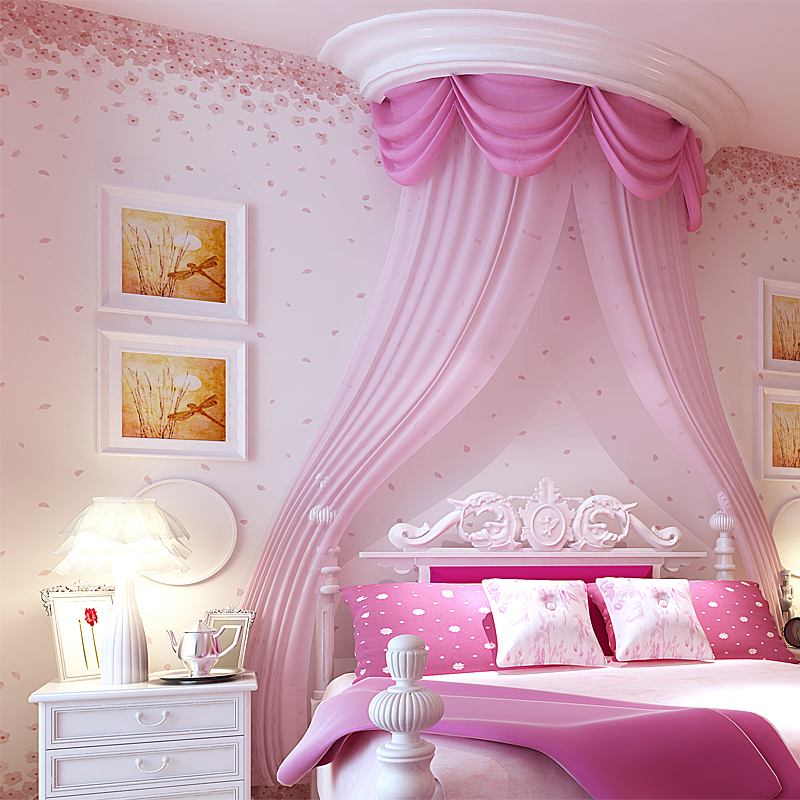 Korean Garden With Small Floral Wallpaper Romantic Cherry Blossom Pink Flower Girls Room Bedroom Specials On Aliexpress