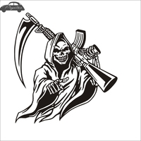 Pegatina Hunt Skull M16 Decal Hunting Club Sticker Hollow Sticker Hunter Car Window Vinyl Decal Funny Poster Motorcycle
