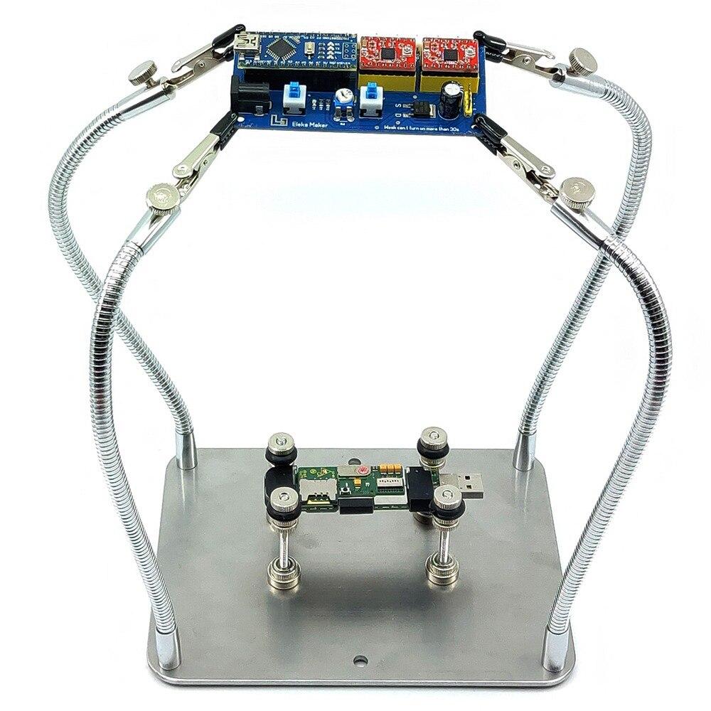 Mobile Phone Motherboard Logic Board Repair Fixture Magnetic Circuit Metal Pcb Holder Repairing Tool For Helping Hands Soldering Aid Third Pana Hand Stand 4 Flexible Arm