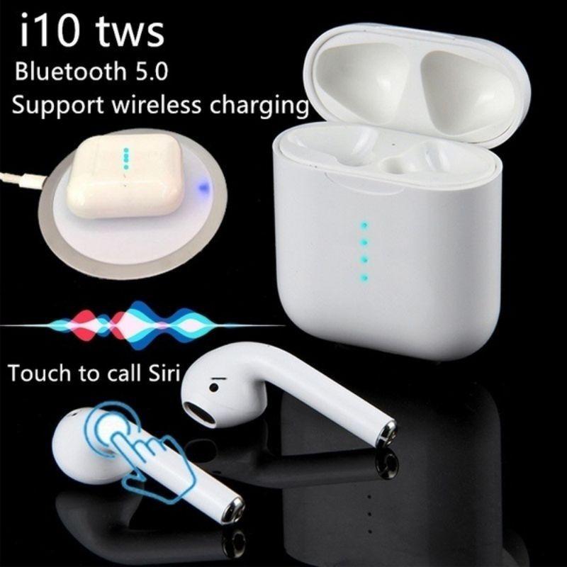 Date i10 tws Bluetooth5.0 écouteur Sans Fil Tactile de contrôle Écouteurs avec chargeur sans fil pour iphone téléphone android PK i12tws/i9