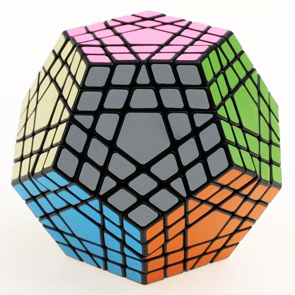 Shengshou 5x5 Gigaminx Cube magique Puzzle noir et blanc Dodecahedron 5x5 vitesse Cube jeu d'apprentissage & éducatif Cubo magico jouets - 2