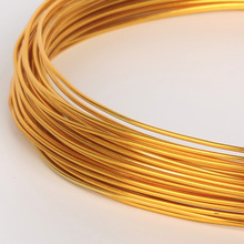 Sale 1/1.5/2/2.5mm 10-18 gauge Length 3/5/10m Anodized Aluminum Soft Round Meatal Wire DIY Jewelry Craft Findings Making(China)