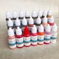 22 COLOR SET 1/2OZ Micro Tattoo Pigment Ink for Eyebrow Professional Makeup Lip Pigment Body Tattoo Art beauty tools