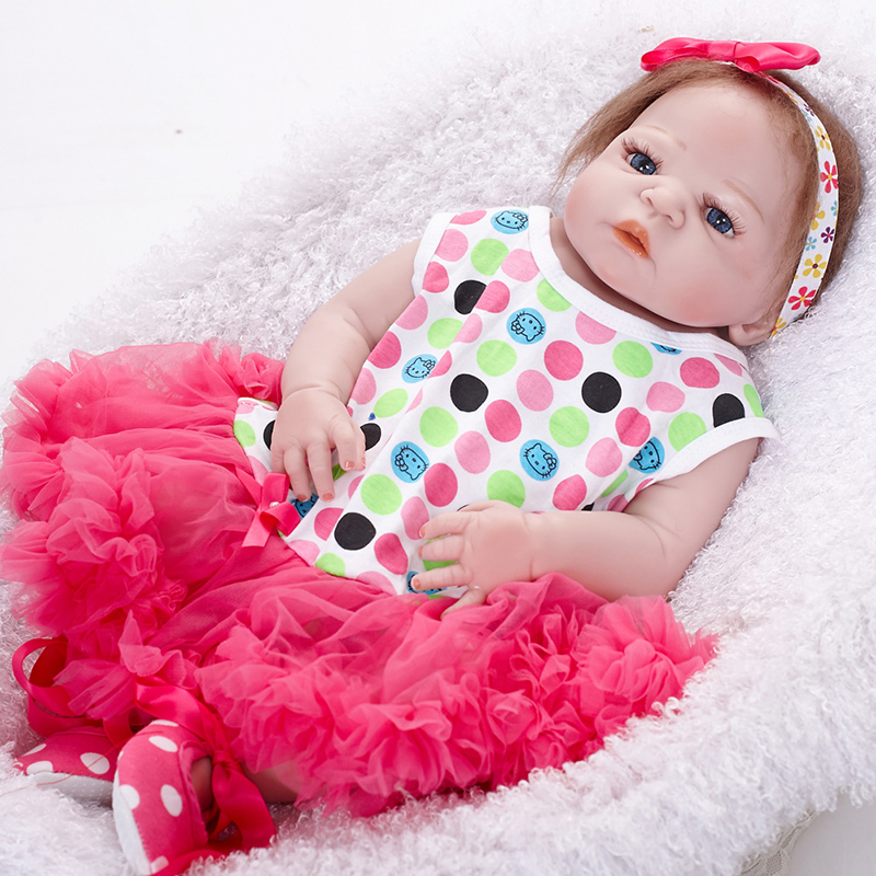 Hot Sale Reborn Baby Dolls Realistic Girl Princess 22 inch Baby Dolls Alive Reborns Toddler bebe Washable Toy For kids Gifts