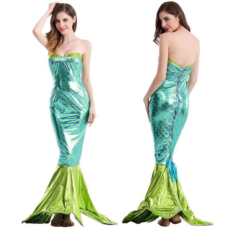 Sexy dentelle dos sirène longue robe femmes piscine fête bustier tubulaire robe de sirène