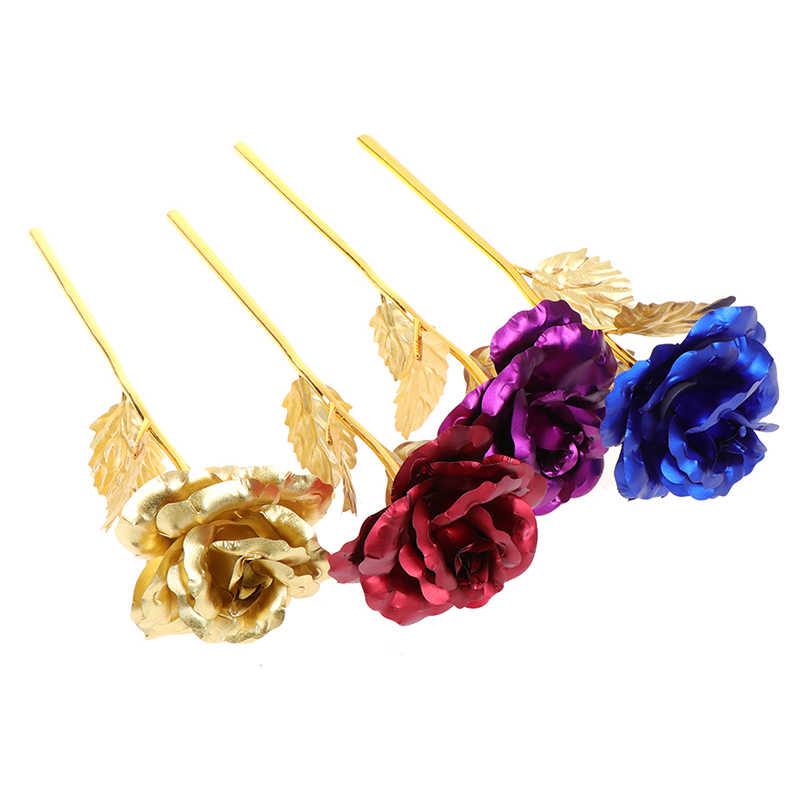 1 Bộ Dropshipping Lễ Tình Nhân Sáng Tạo 24 K Viền Vàng Hoa Hồng Kéo Dài Mãi Mãi Yêu Trang Trí Lễ Cưới Người Yêu Chiếu Sáng hoa Hồng