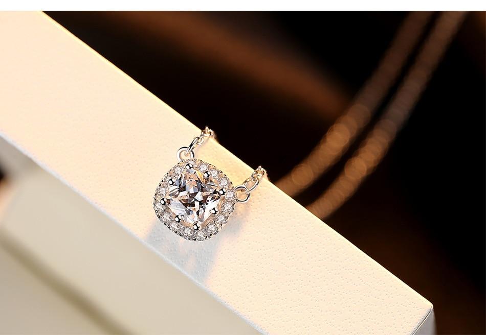 S925 ожерелье стерлингового серебра AAA Циркон Серебряные украшения Мода дамы подарок ювелирных изделий LB15