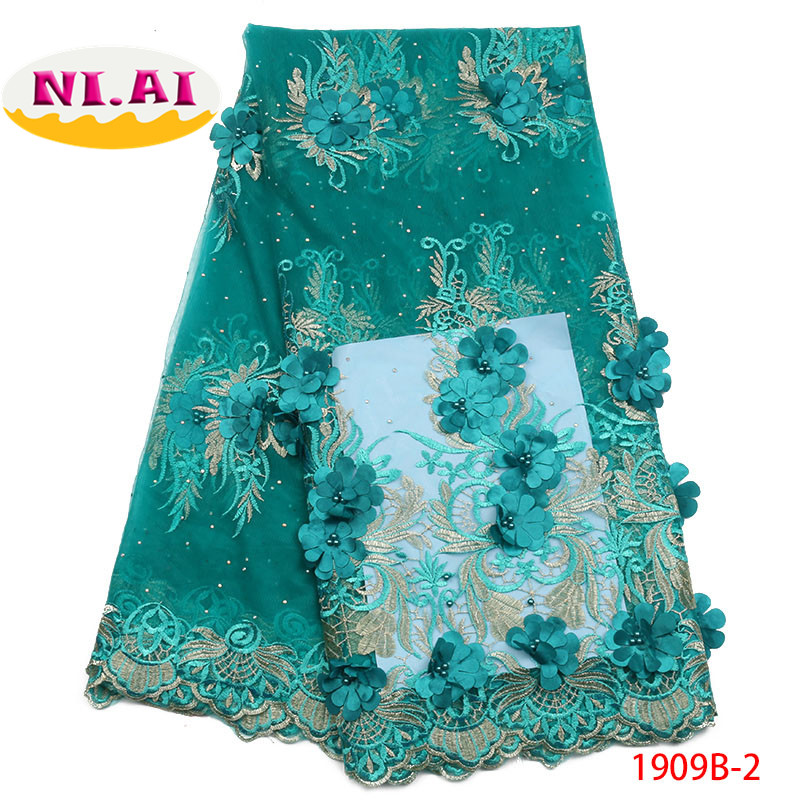 African Lace Fabric 2018 High Quality 3D Lace French Net Lace Fabrics 2018 African Nigerian Lace