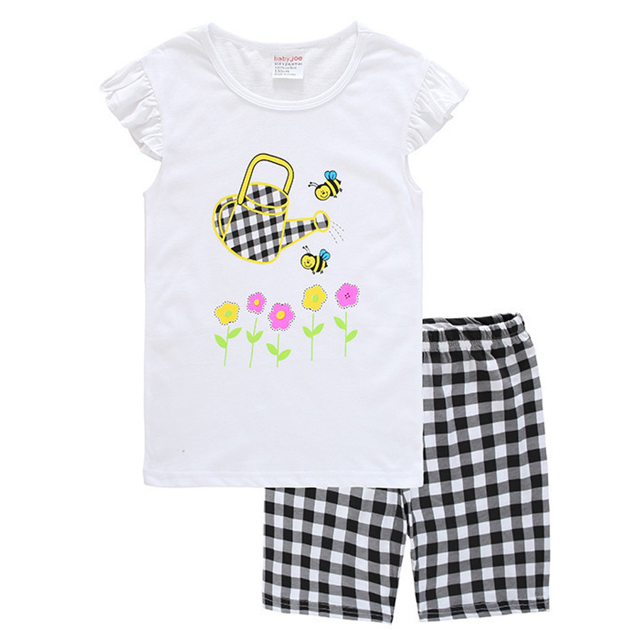 Baby Girls Pajamas Summer Girls Pajamas Sets Shorts Sleepwears Short sleeve Pajamas Children Pyjamas Kinds Girls Clothing Set