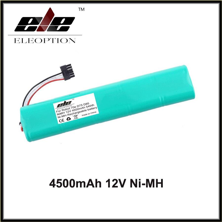 Eleoption ni-mh 12 V 4500 mAh batería de repuesto para neato botvac 70E 75 80 85 d75 D8 D85 Partes de aspirador batería