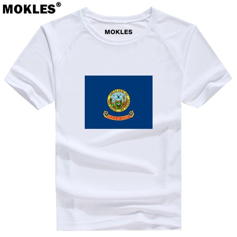 IDAHO t shirt custom made name number USA boise ID gem T Shirt america  print text word Nampa Idaho Falls Twin Falls red clothing t shirt custom t  shirtcustom t shirt - AliExpress