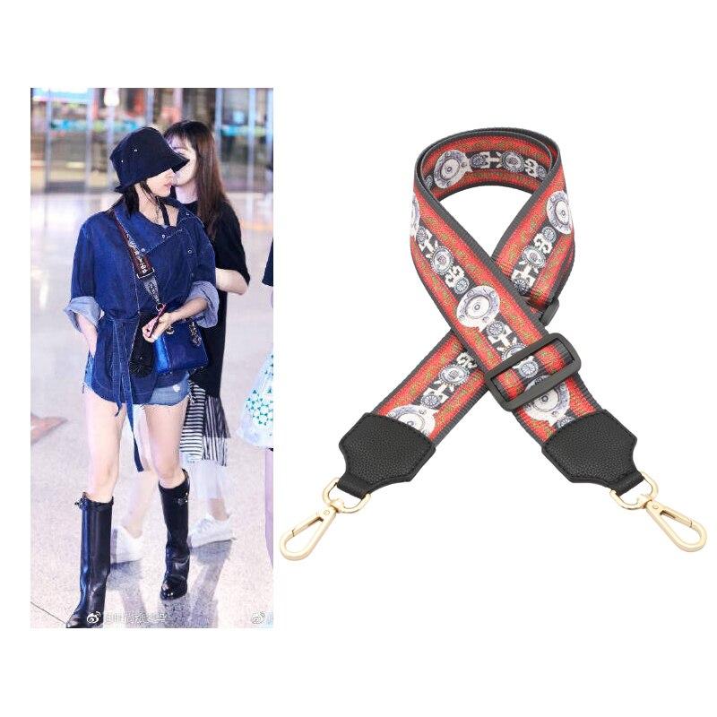 2018 New Cross-diagonal Belt Wide Shoulder Strap Adjust Ladies Bag National Wind Color Shoulder Strap Accessories