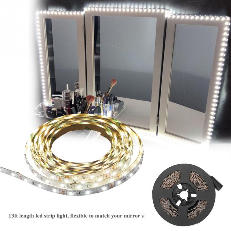 high quality 13ft 120 led strip bar vanity mirror makeup lamp strip light for tv background. Black Bedroom Furniture Sets. Home Design Ideas