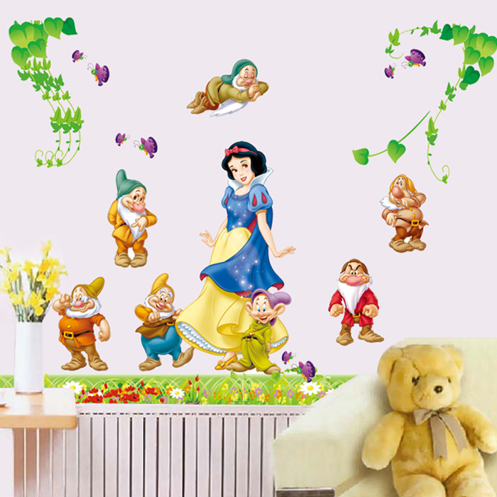 Free Shipping Removable Snow White And The Seven Dwarfs