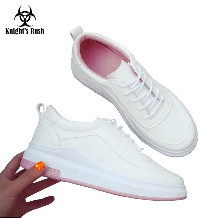 New Fashion women spring autumn sneakers leisure shoes flats genuine  leather lace up loafers casual shoes for women white tfsland men women genuine leather loafers students white shoes unisex spring round toe lace up breathable walking shoes sneakers