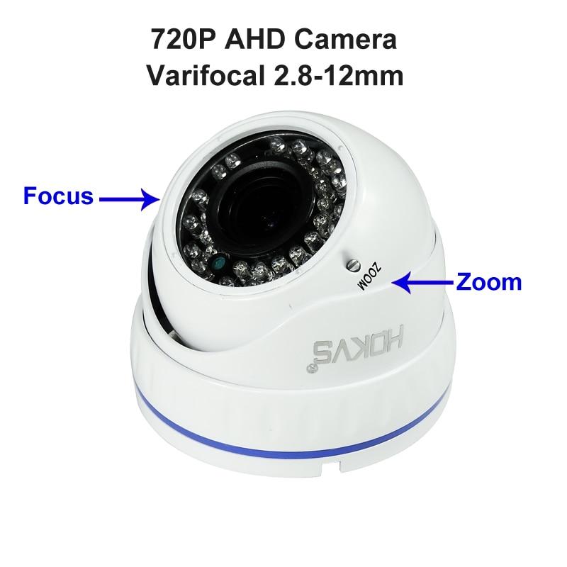 720P 1.0MP Outdoor Indoor VariFocal Metal Dome Analog HD IR Security Camera CCTV